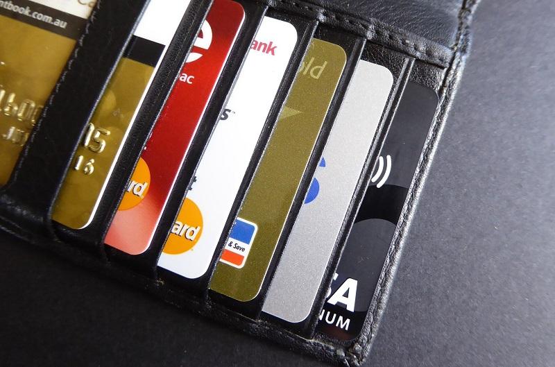 Carteira com cartões