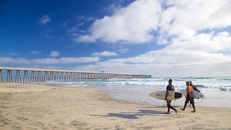 Atividades esportivas na praia Rosarito em Tijuana