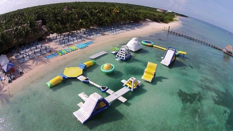 Lazer e entretenimento na Paradise Beach em Cozumel