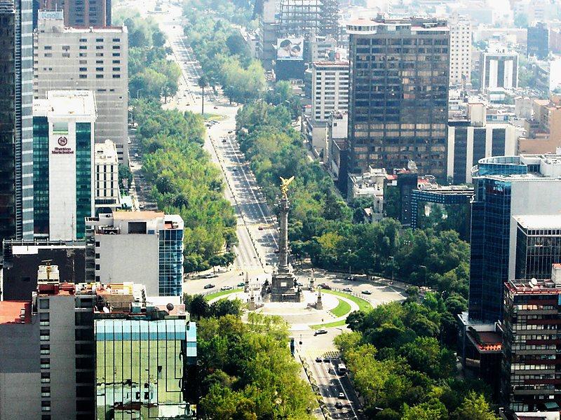 Avenida Paseo de La Reforma na Cidade do México