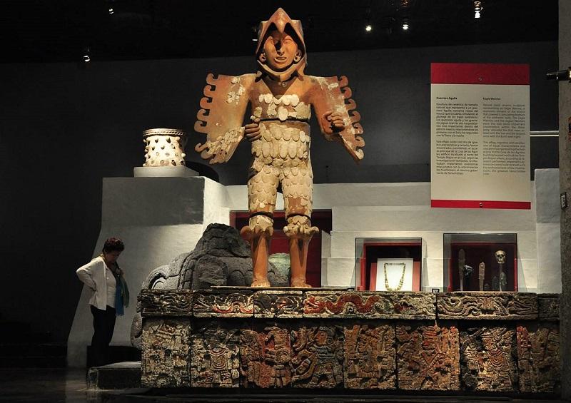 Interior do Museu do Templo Mayor na Cidade do México