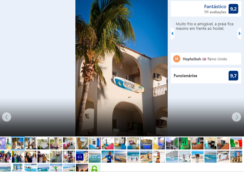 "Fachada do Surf Hostel Cabo ""The Riptide"" em Los Cabos"