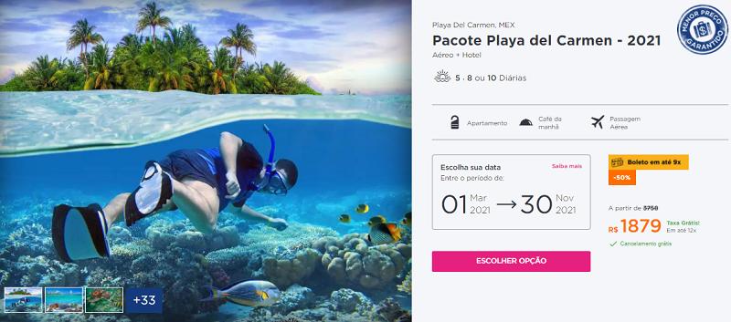 Pacote Playa del Carmen - Cancún Hurb