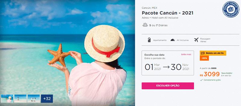 Pacote Hurb Cancún 2021