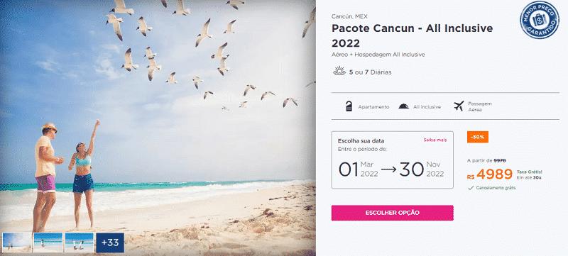 Pacote Cancun All Inclusive 2022