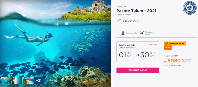 Pacote Tulum Hurb