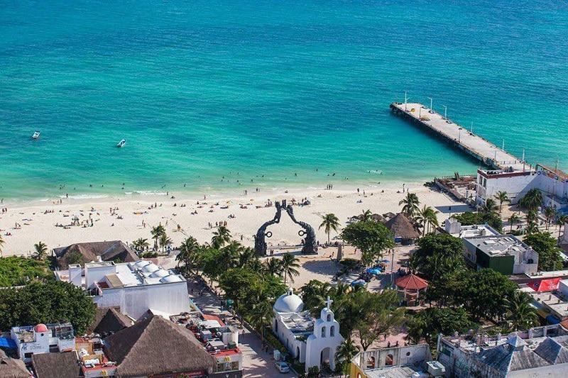 Região da Playa del Carmen no México