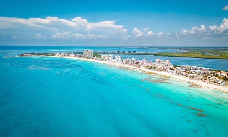 Mar caribenho - Cancún