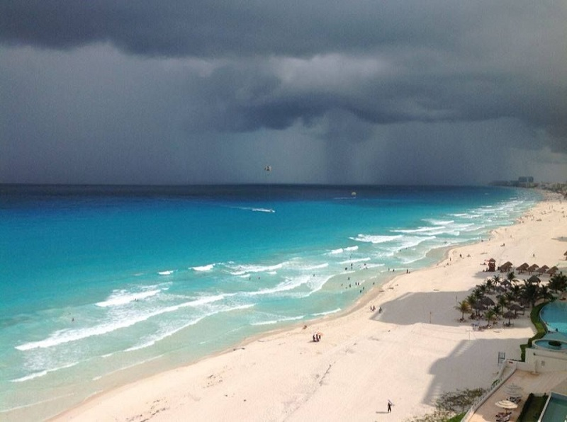 Chuva em Cancún