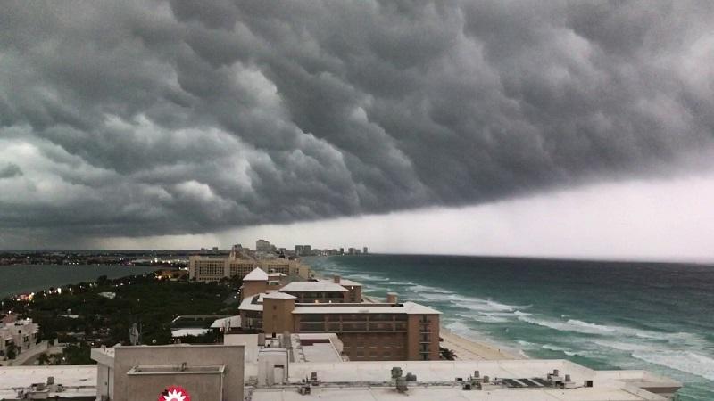 Tempestade em Cancún
