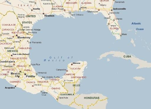 Golfo do México - Mapa