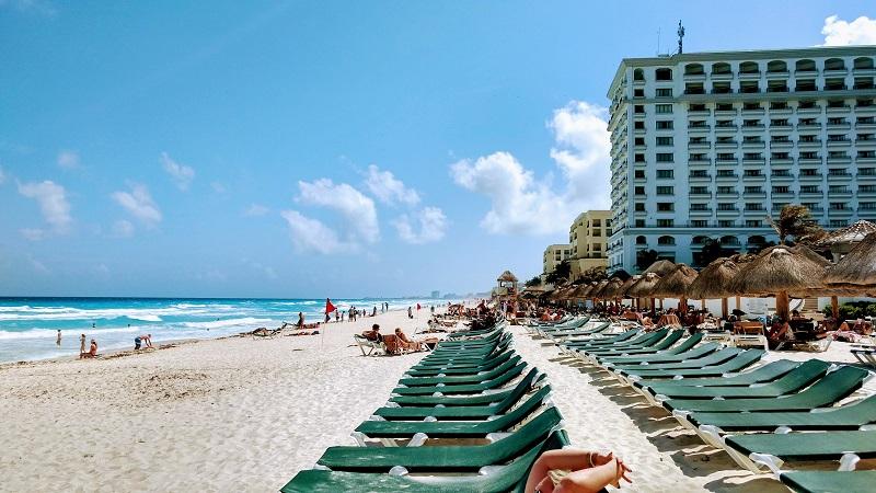 Praia do hotel Hard Rock em Cancún