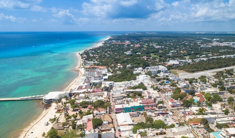 Cidade Playa del Carmen no México