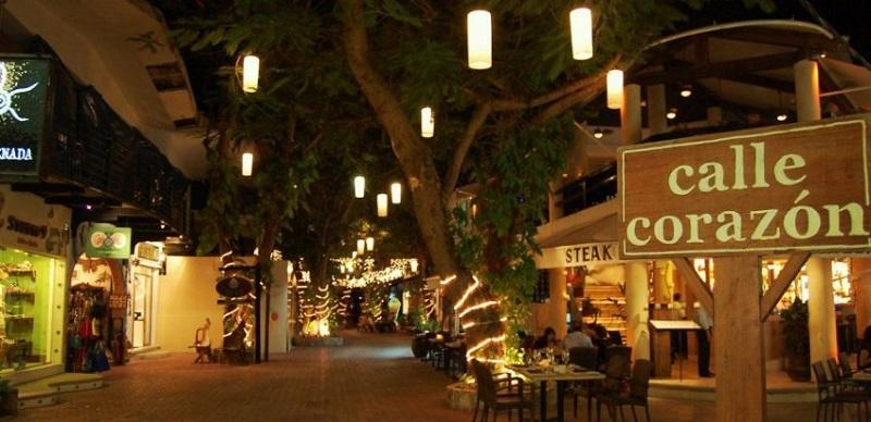 Calle Corazón para compras em Playa del Carmen