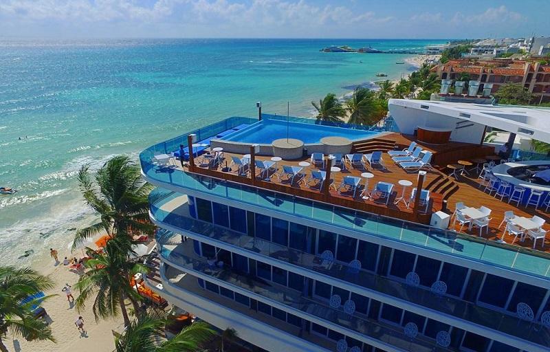 Hotel na beira do mar em Playa del Carmen
