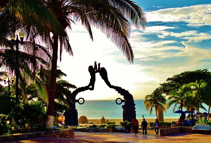 Parque Fundadores em Playa del Carmen - México