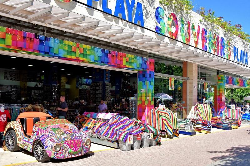 Compras de lembrancinhas e souvenirs em Playa del Carmen