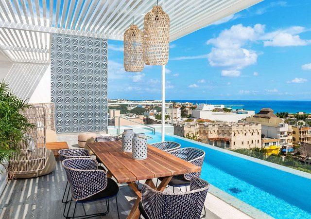 Hotéis no centro turístico em Playa del Carmen