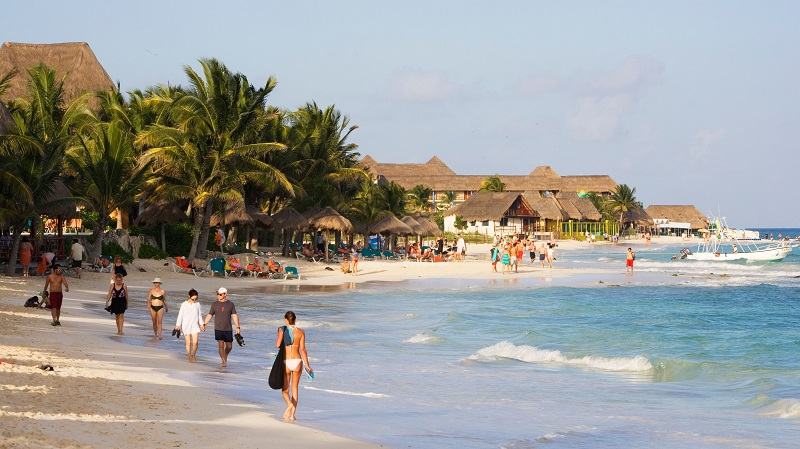 Playa Mamitas em Playa del Carmen